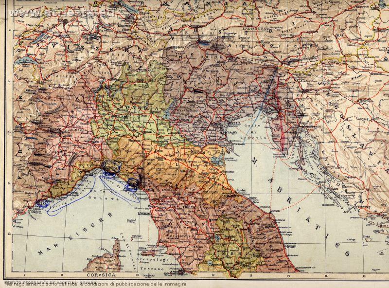 Italia Del Nord Cartina Geografica   Tiesby Nelson