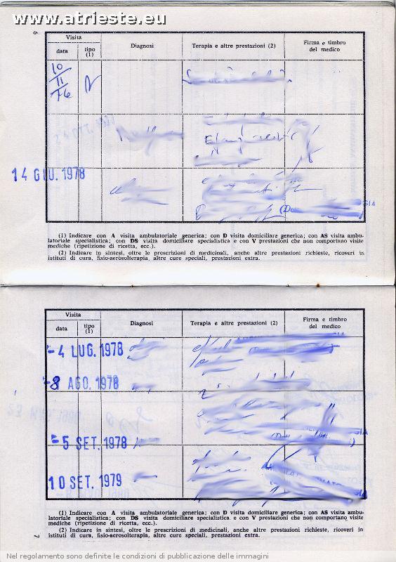 Documenti che non esistono pi - Libretto sanitario per lavoro cucina ...